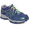 The North Face Junior Hedgehog Hiker WP Shoes Marker Blue/Electric Mint Green